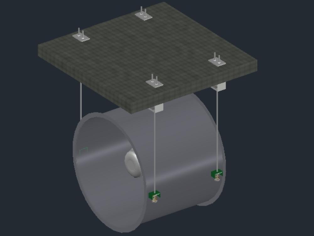 Ventilador axial tipo ventilador de instalación de hvac