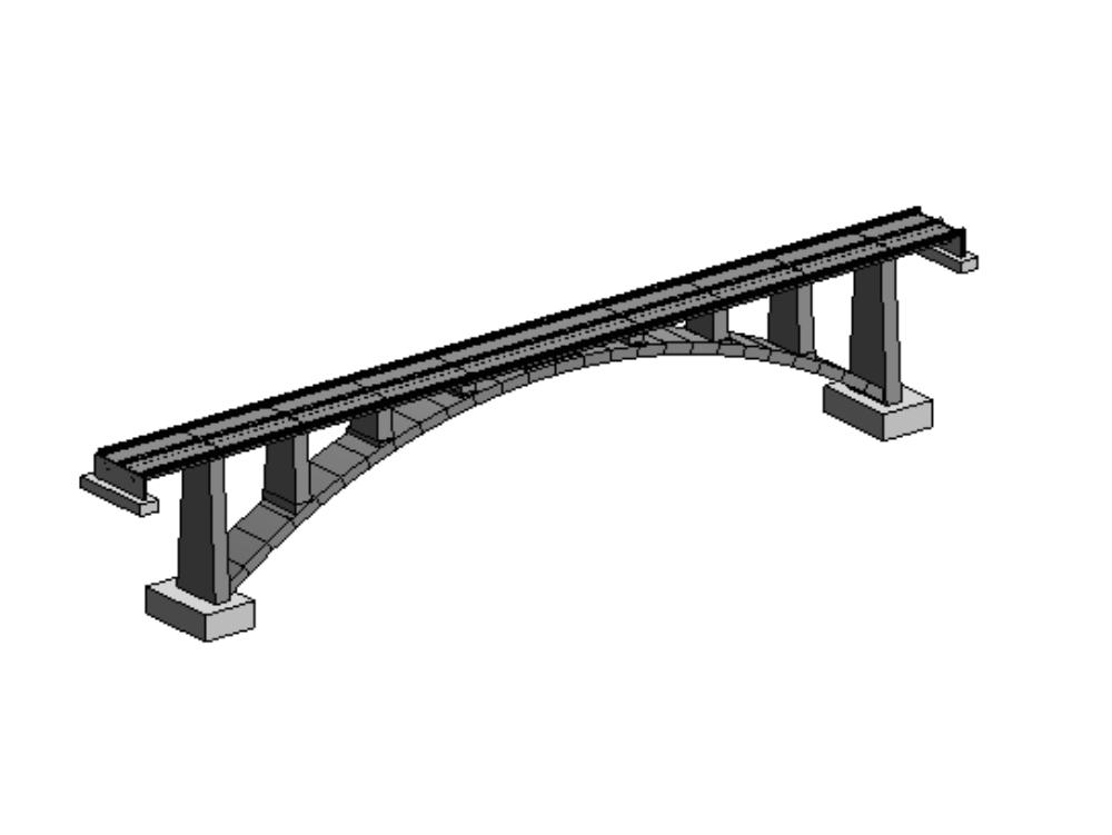 Civil works bridge with cajon bridge structure