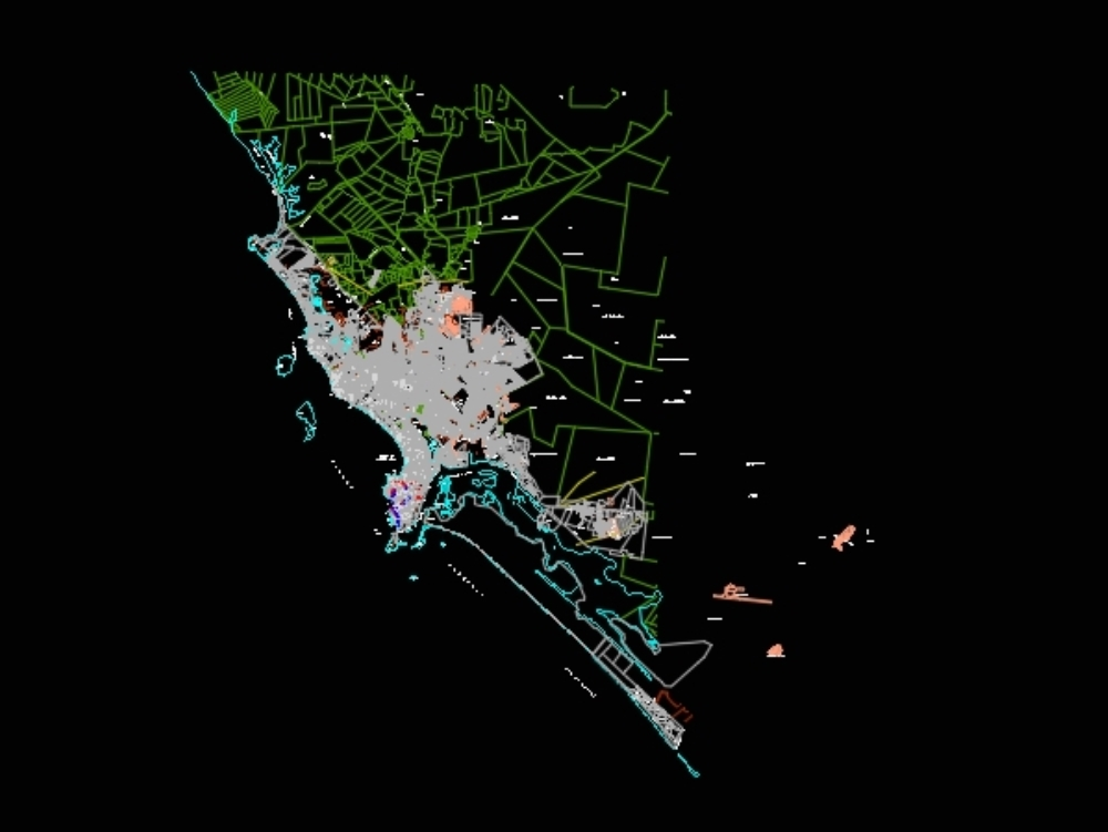 Map of mazatlán