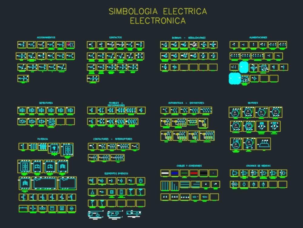 Simbología eléctrica electrónica