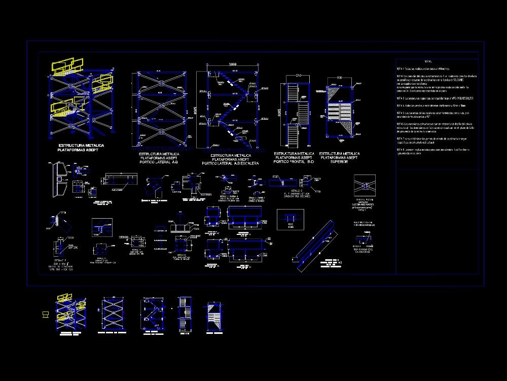 Metal access ladder