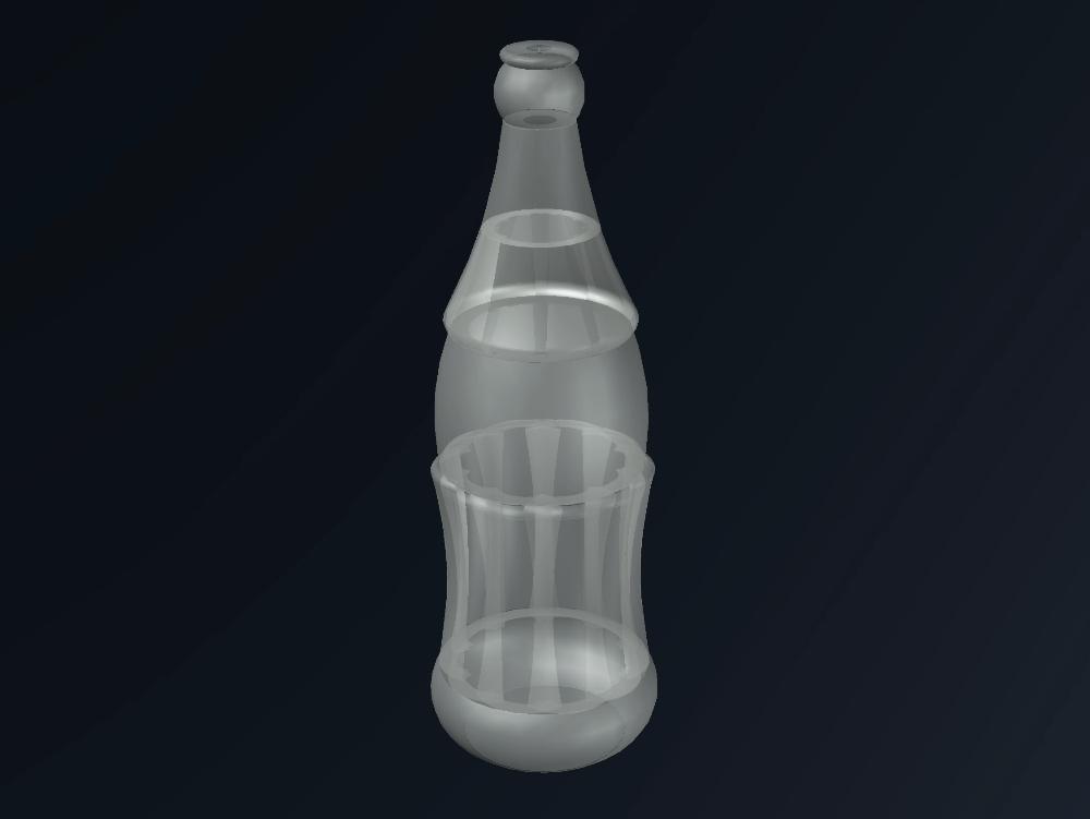 Coca cola bottle - autocad