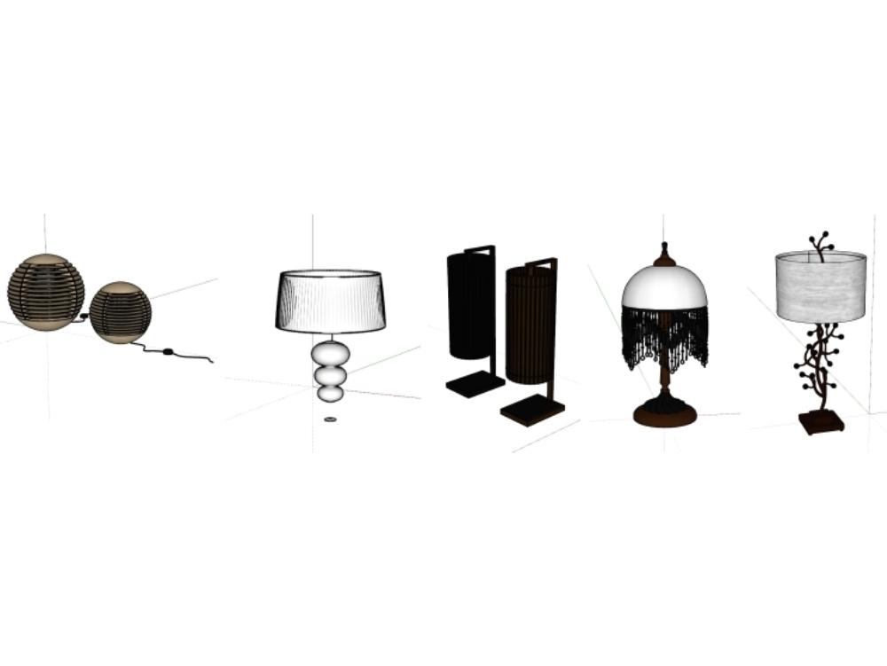 Luminarias en sketchup de varios tipos