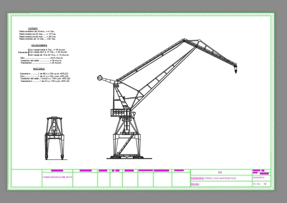 25 ton shipyard crane