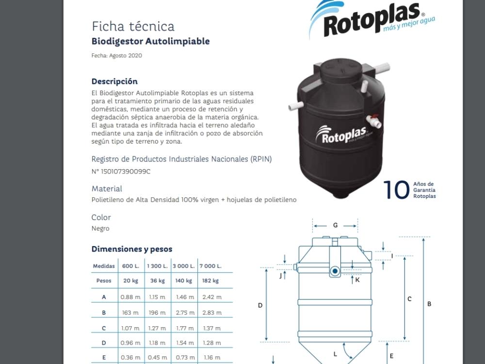 Technical data_biodigestor2020