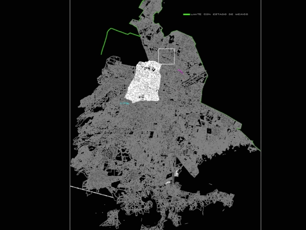 Plan of the city of mexico autocad 2015