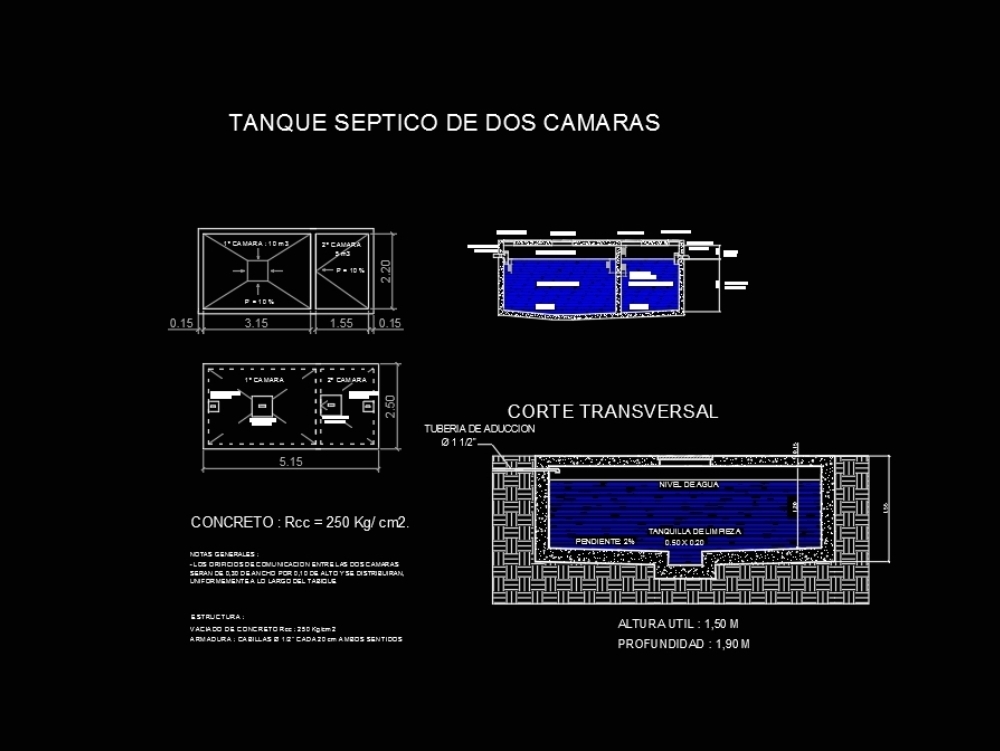Domestic wastewater treatment unit design