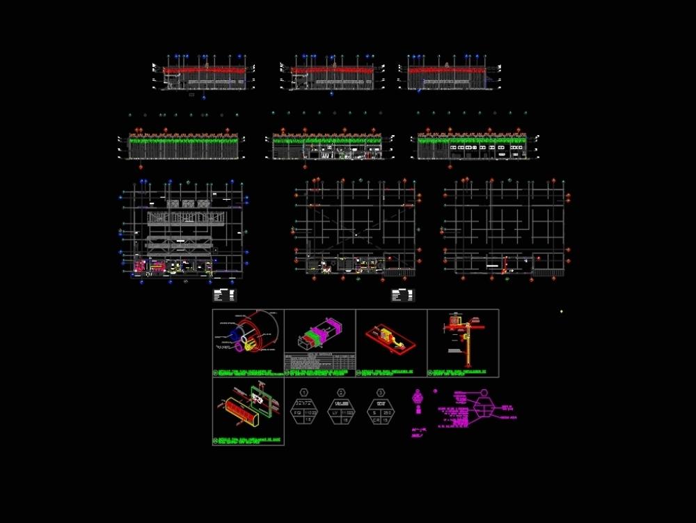 Diseño hvac nave galvanizado por ventiladores de gravedad