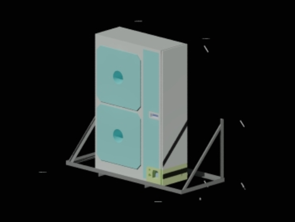 Condensing unit and platform in 3d