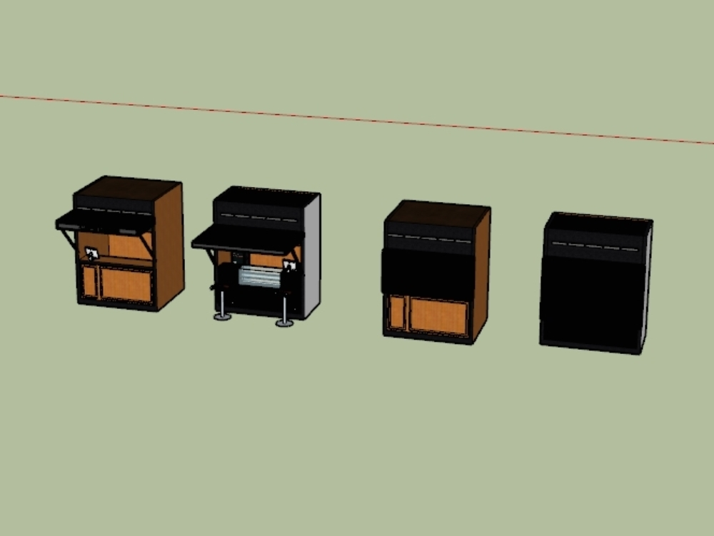 Local 3d model for coffee shop