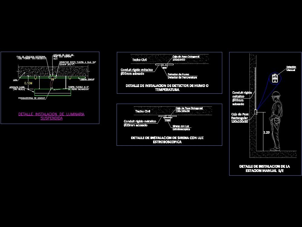 Luminaire emergency smoke detector control