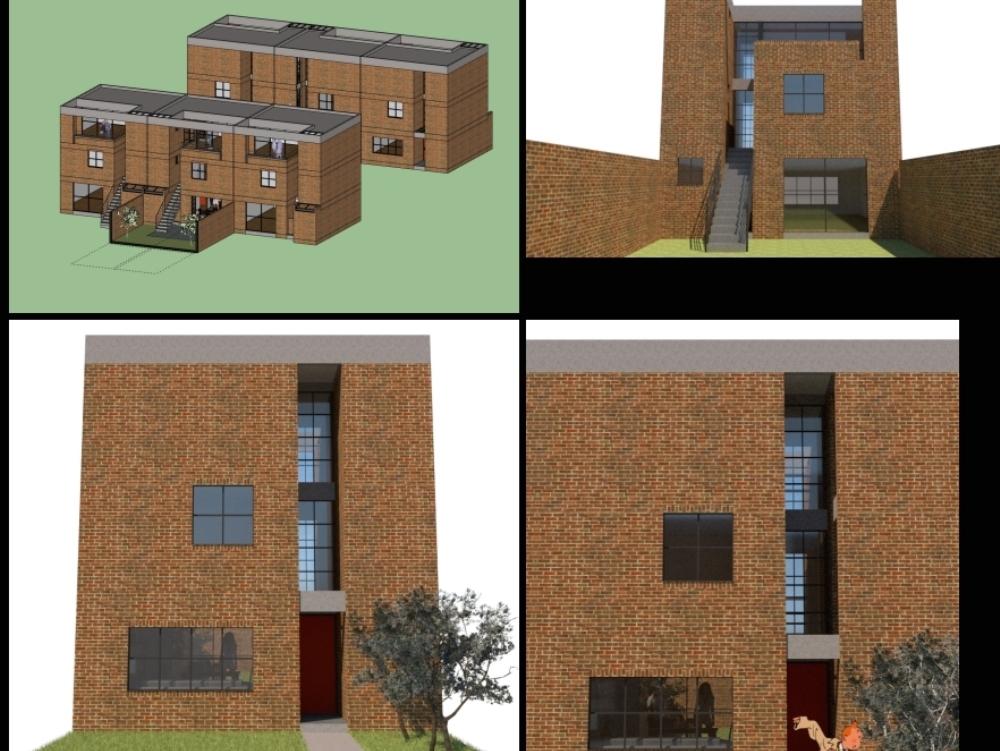 Casa cubo 3 pisos. planta 7x7metros