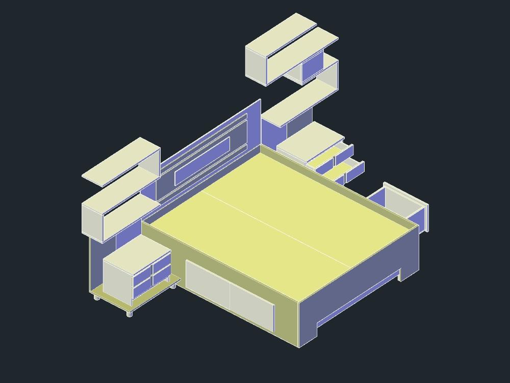 Diseño de juego de cuarto quin en melamina