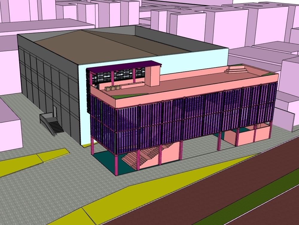 3d model sketchup 2020 auditorium.