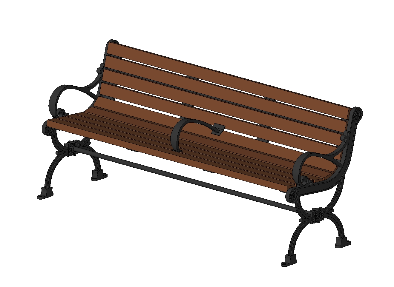 Bench for outdoor use for gardens