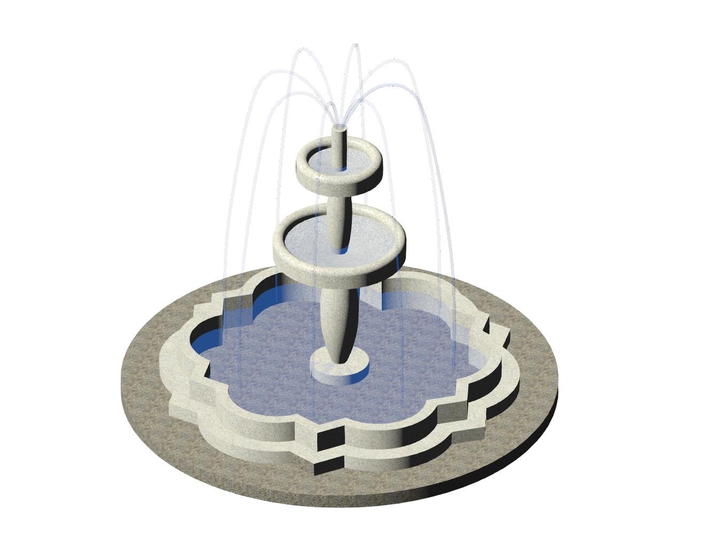 3-dimensional water fountain