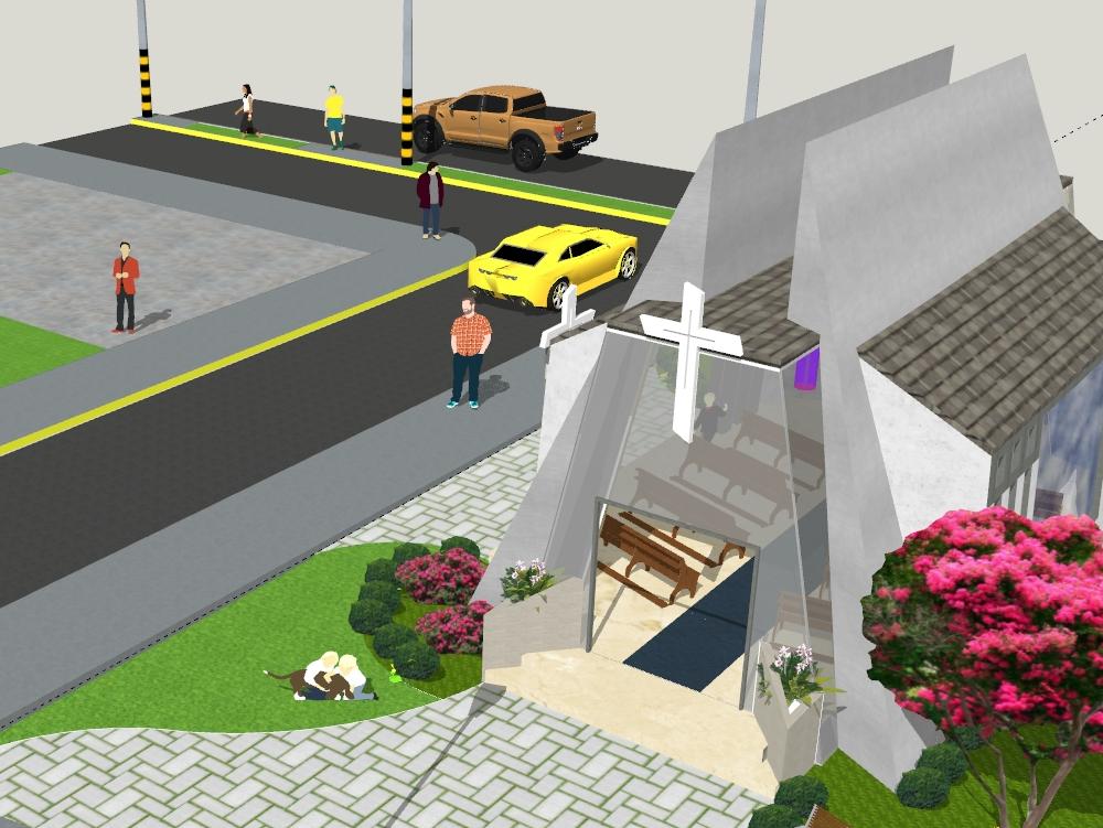Capila; con urbanismo; y materiales