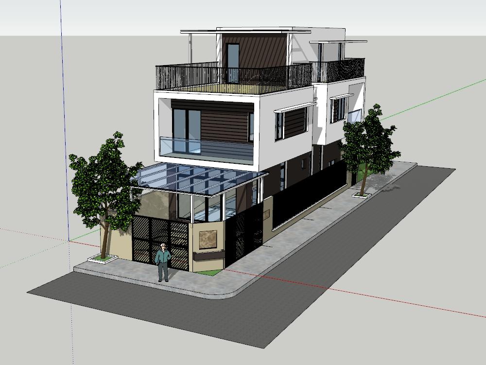Modelo de unidad de vivienda de villa