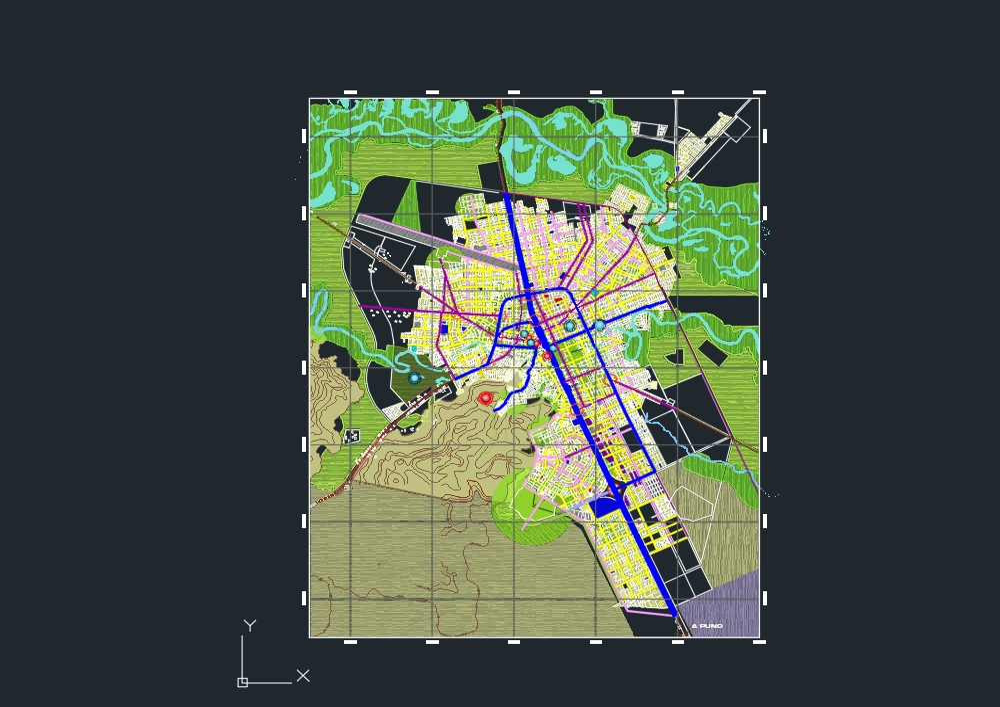 Cadastre map of the city of juliaca - peru