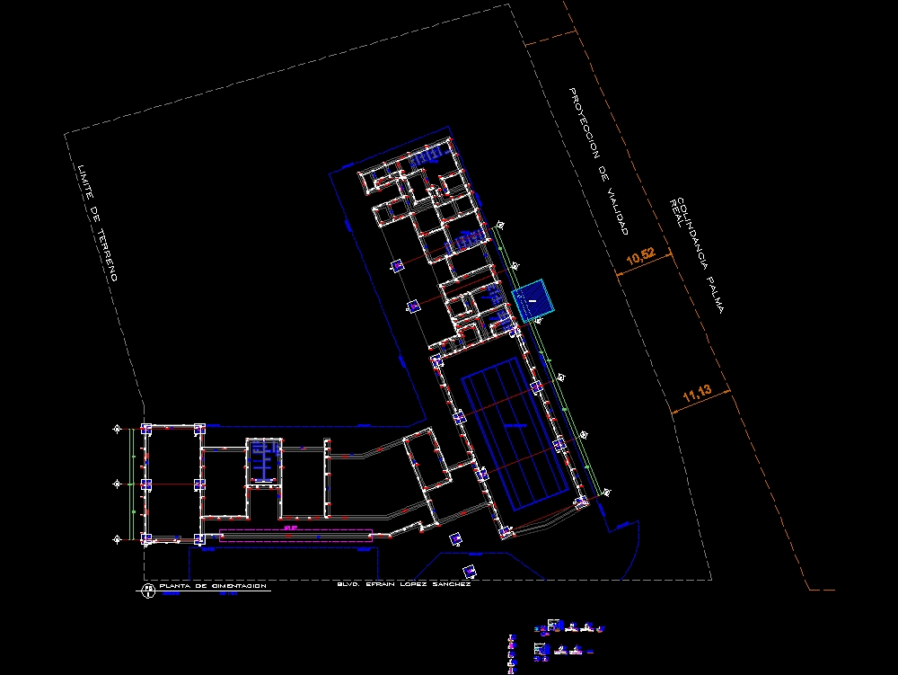 Foundation plan and general details