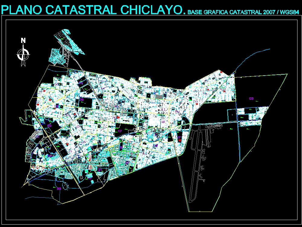 Chiclayo district map 2017