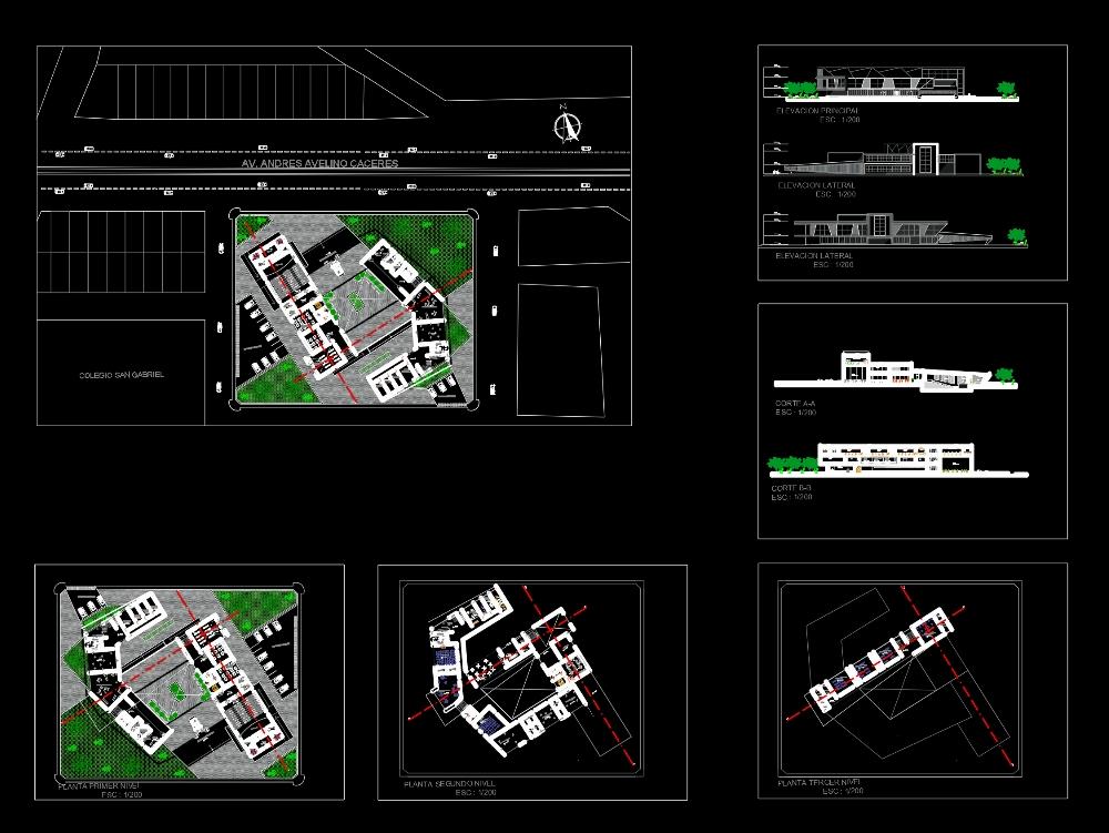 Centro cultural planos arquitecto