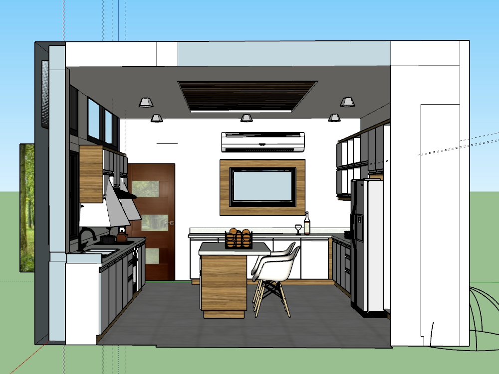 Kitchen interior designing sketchup