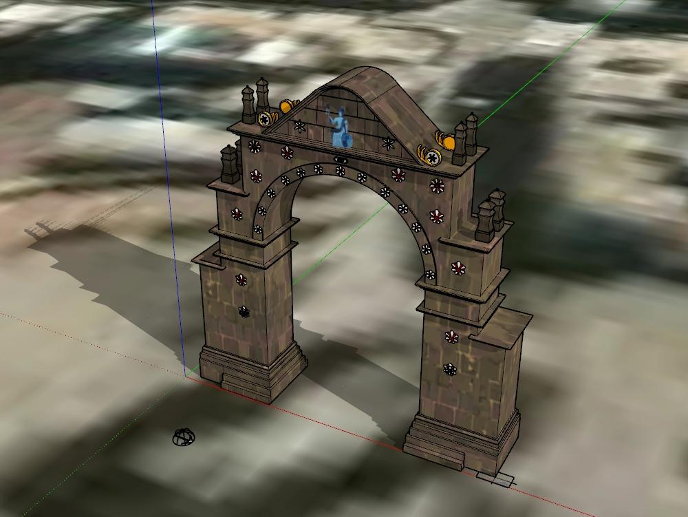 Arch deustua puno; monumental area