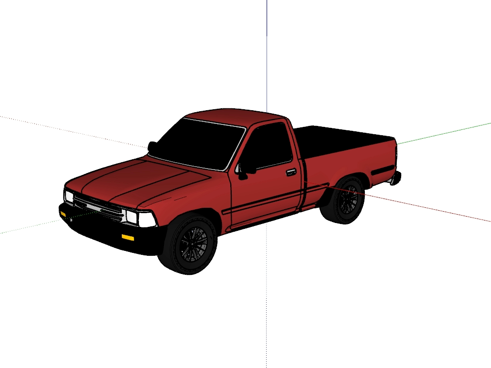 Toyota -22r- model 1994 red color