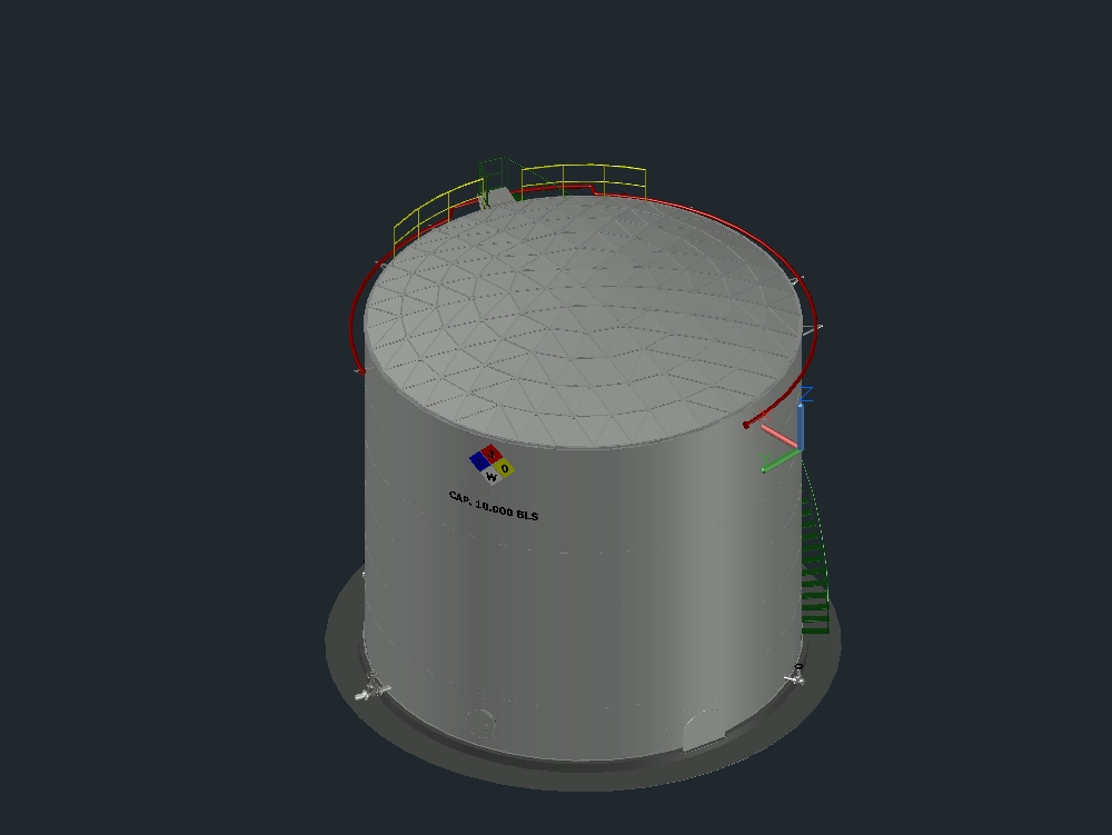 Tank api 650; geodesic dome roof.