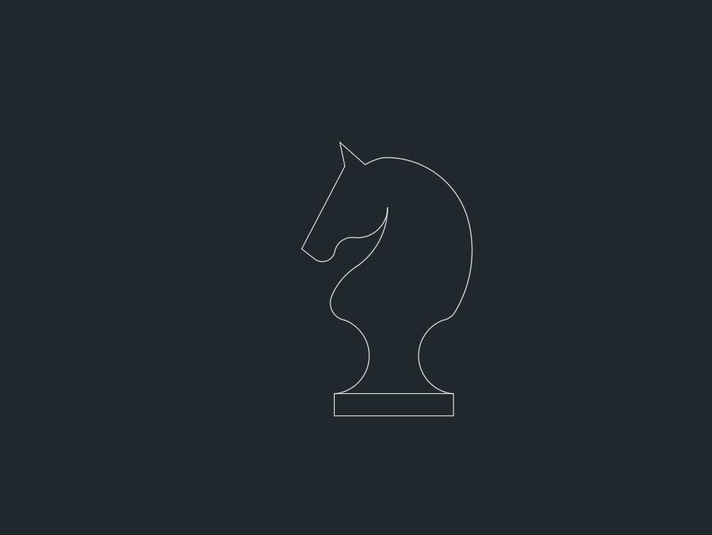 2d chess horse figure