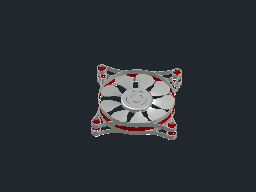 Three-dimensional fan for cpu