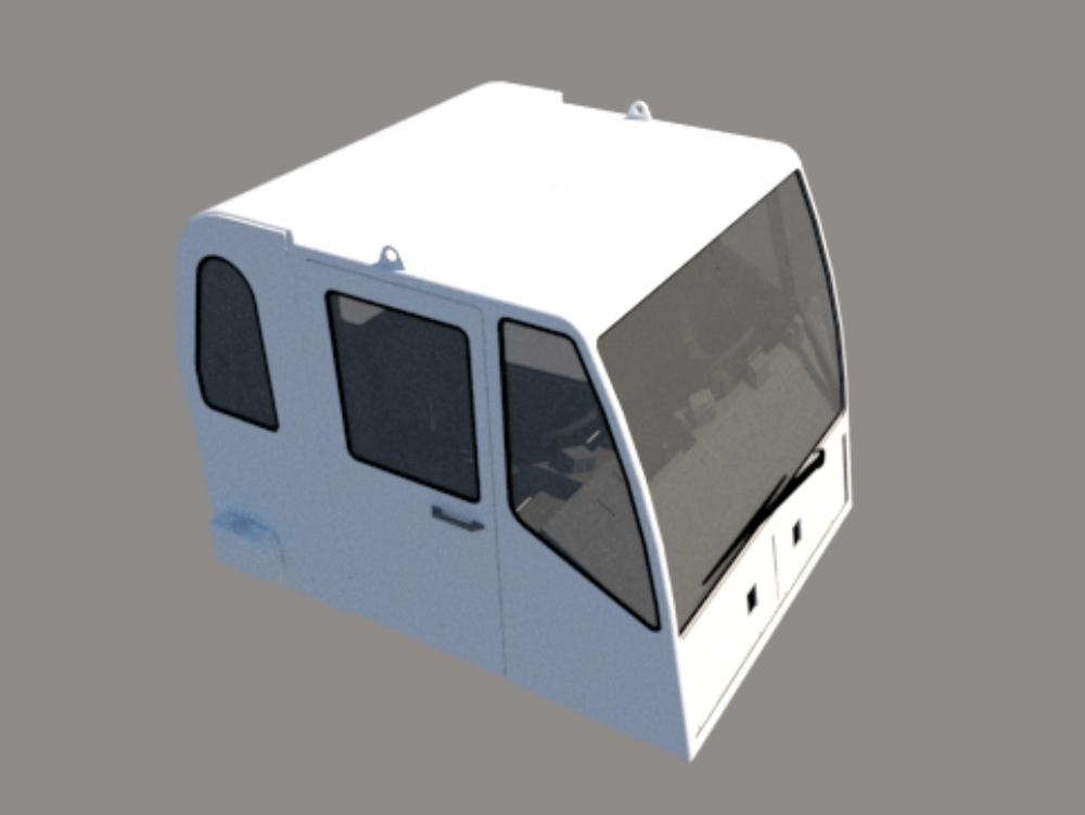 Cab for heavy duty mining trucks