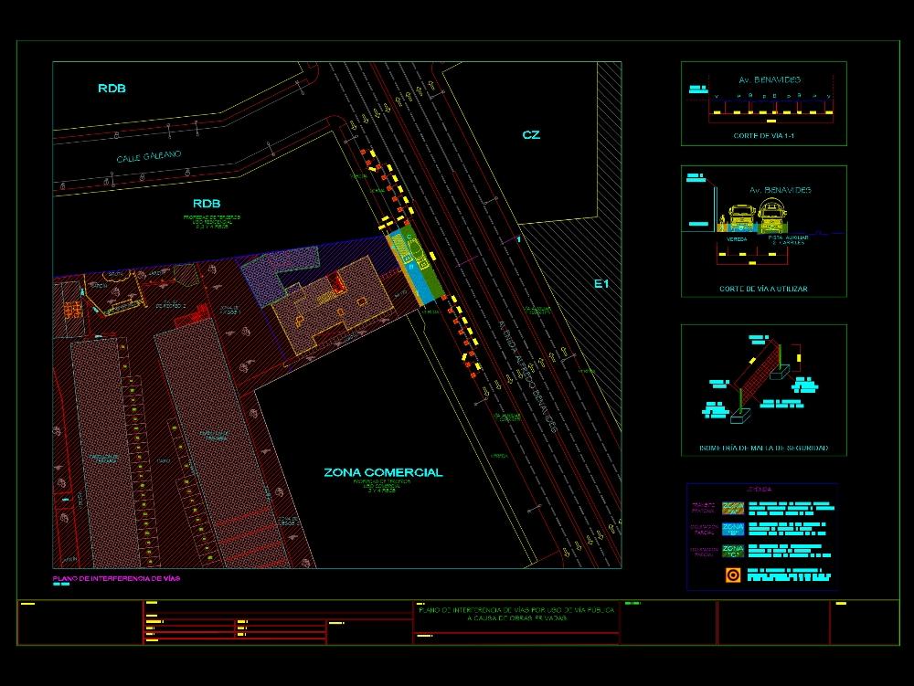 Deviation plan of tracks for work
