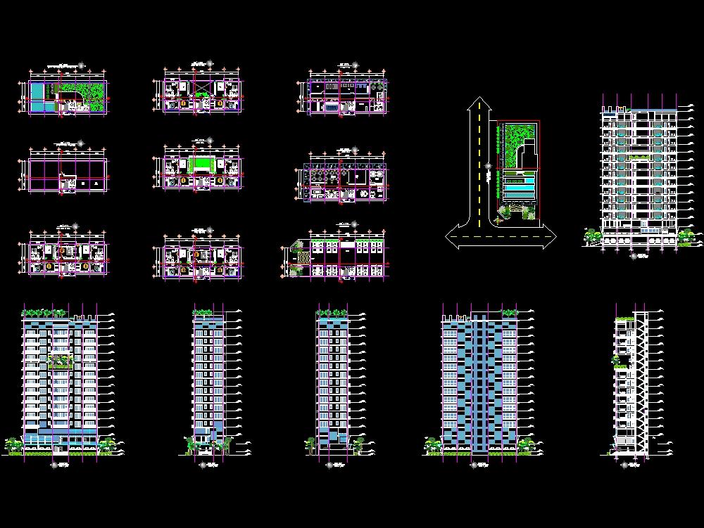 Edificio de vivienda unifamilar de 9 niveles