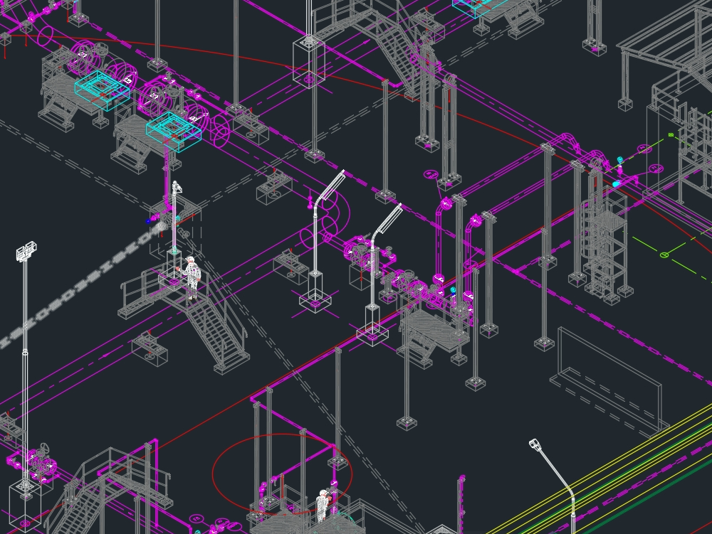 Isometric view gas measurement station
