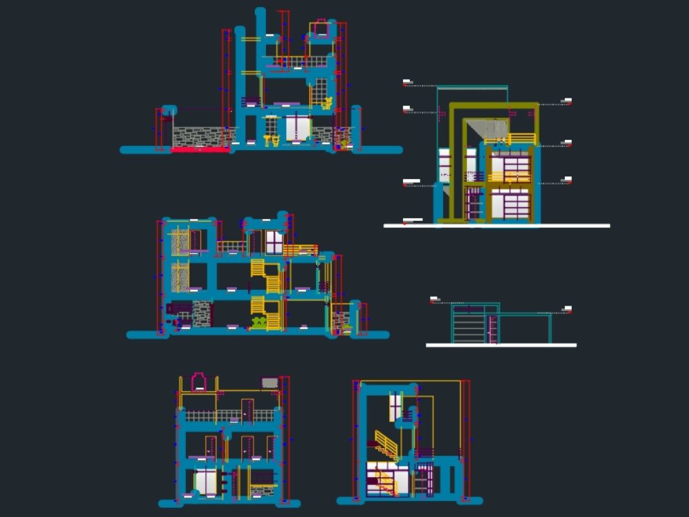 Vivienda de cuatro pisos