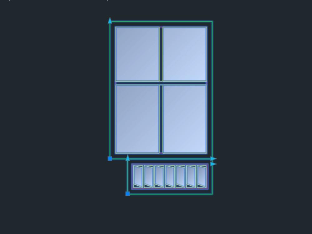 Dynamic window blocks in autocad