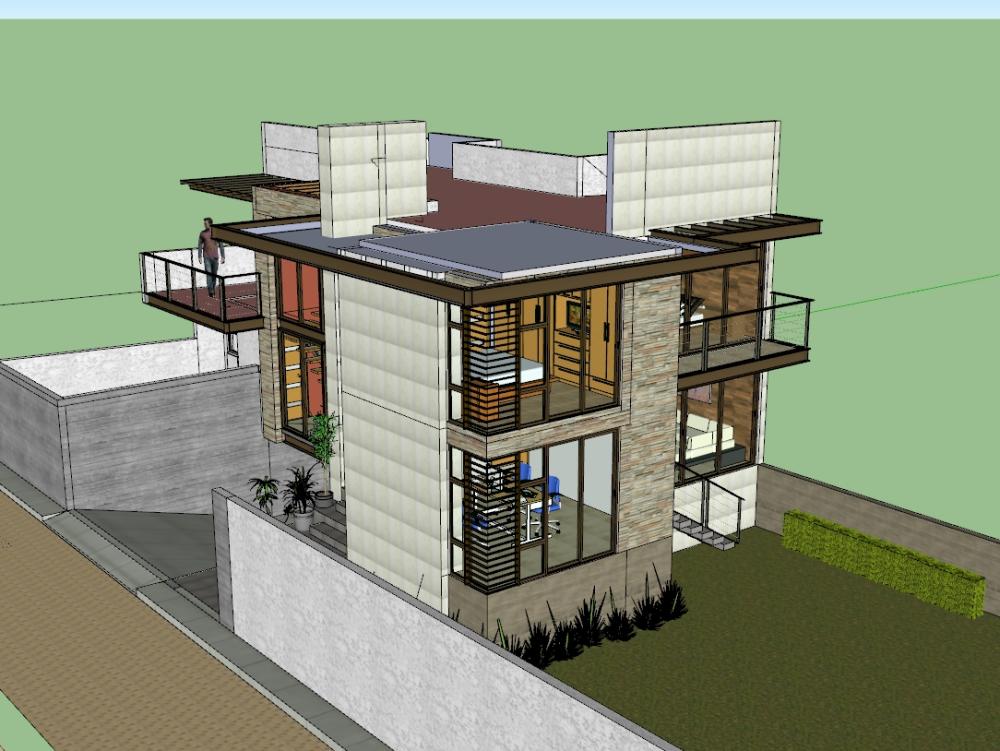 Casa habitacion modelo scketchup.