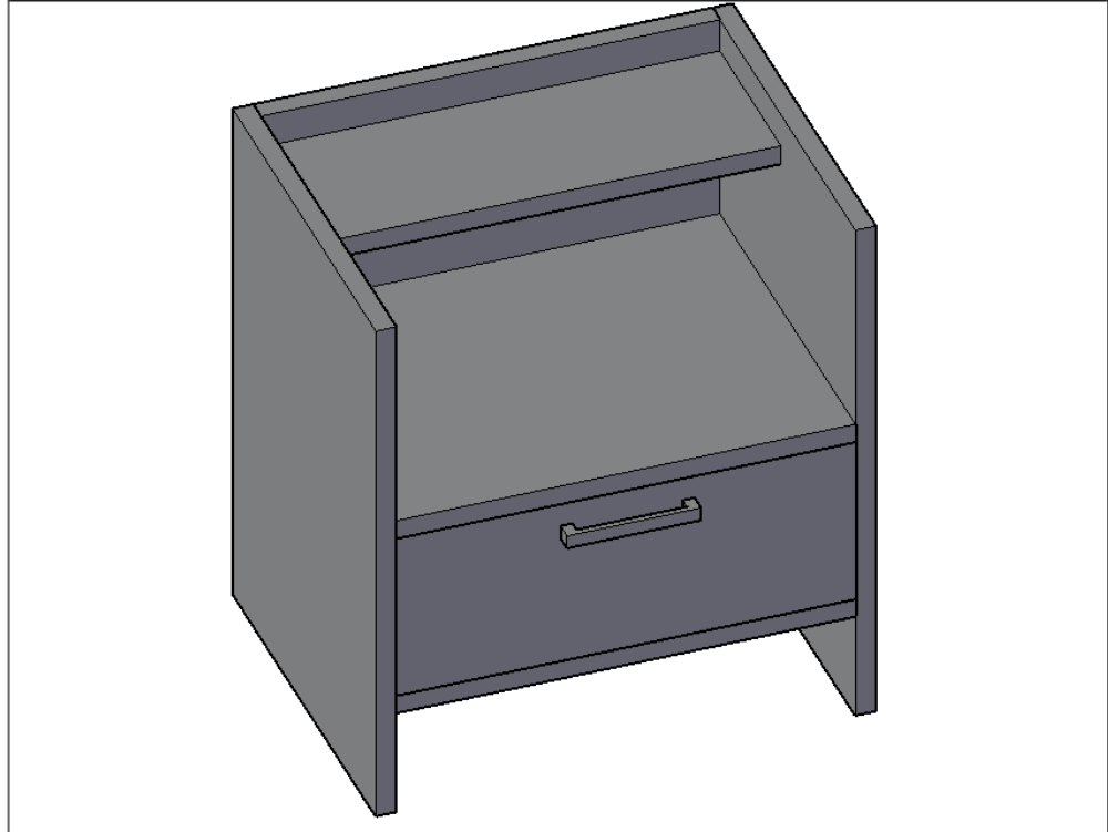 Modern and functional bedside table for bedroom