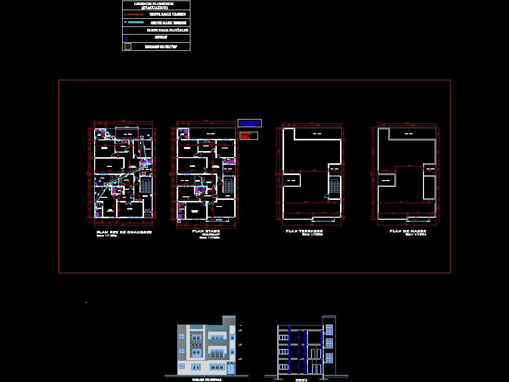 Proyecto de realización del plan de fontanería para una casa r + 1