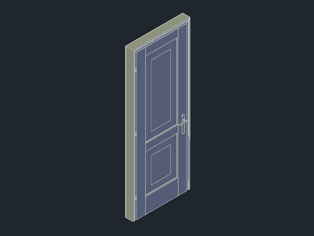 Large door in 3 dimensions (3d)