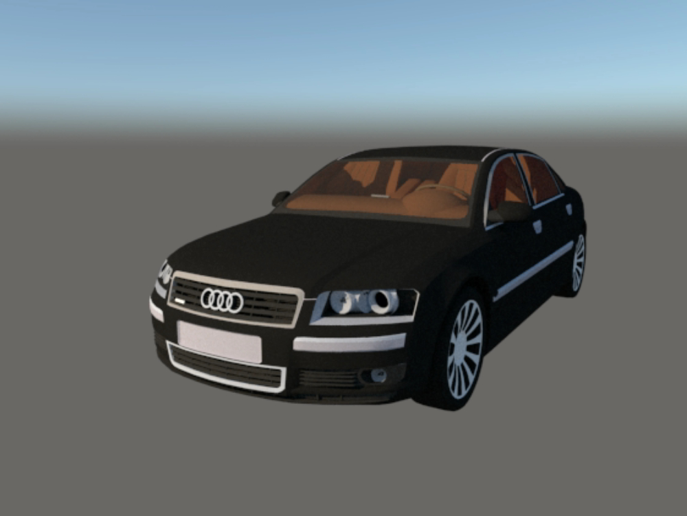 Audi a8 3d modeling skp