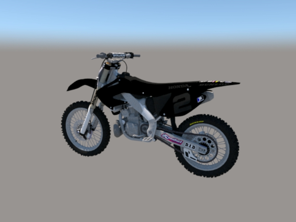 Motorcycle yamaha cross skp