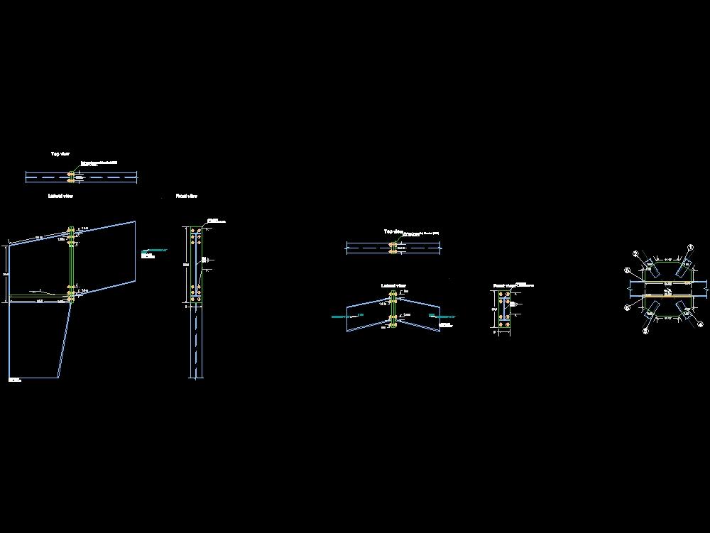 Detalles de conexiones para naves industriales en acero