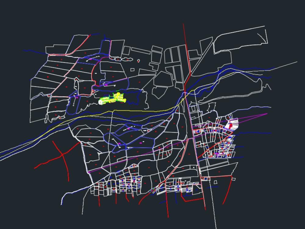Perimetric plane_in autocad dwg.