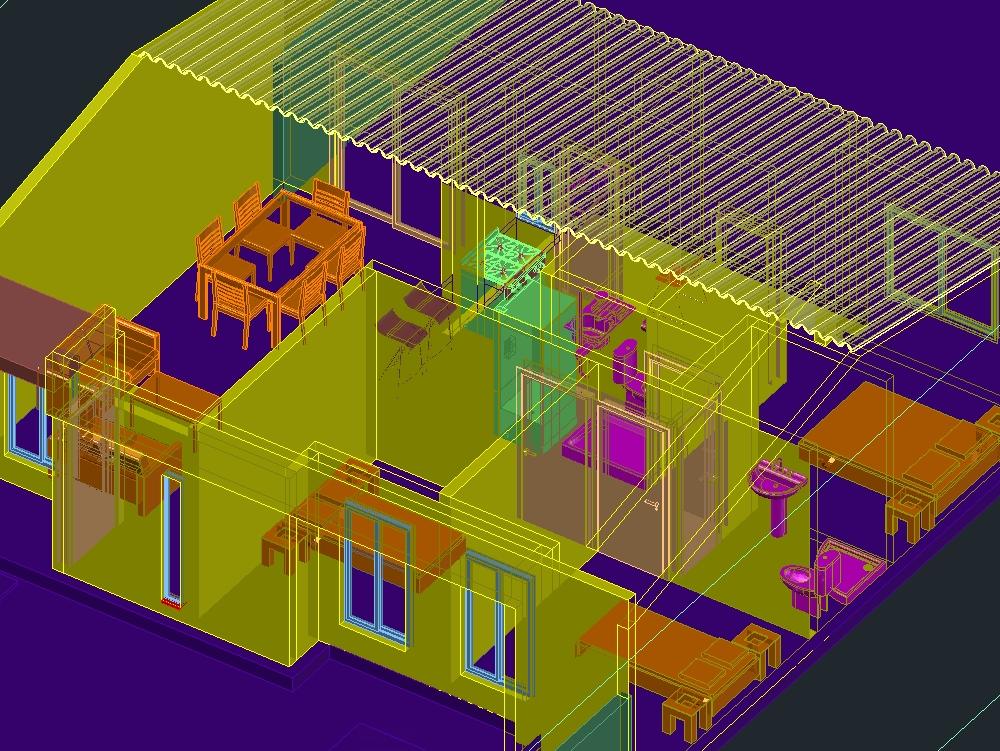 One-level social housing for a family member