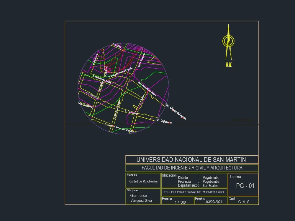 Plano de detalle ciudad de moyobamba