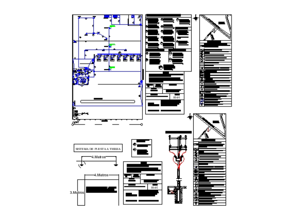 Substation plan and electrical power