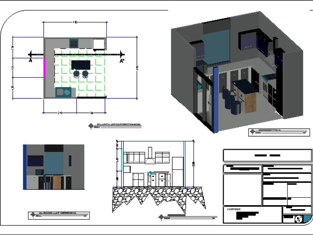 Cocina de 15.6 m2